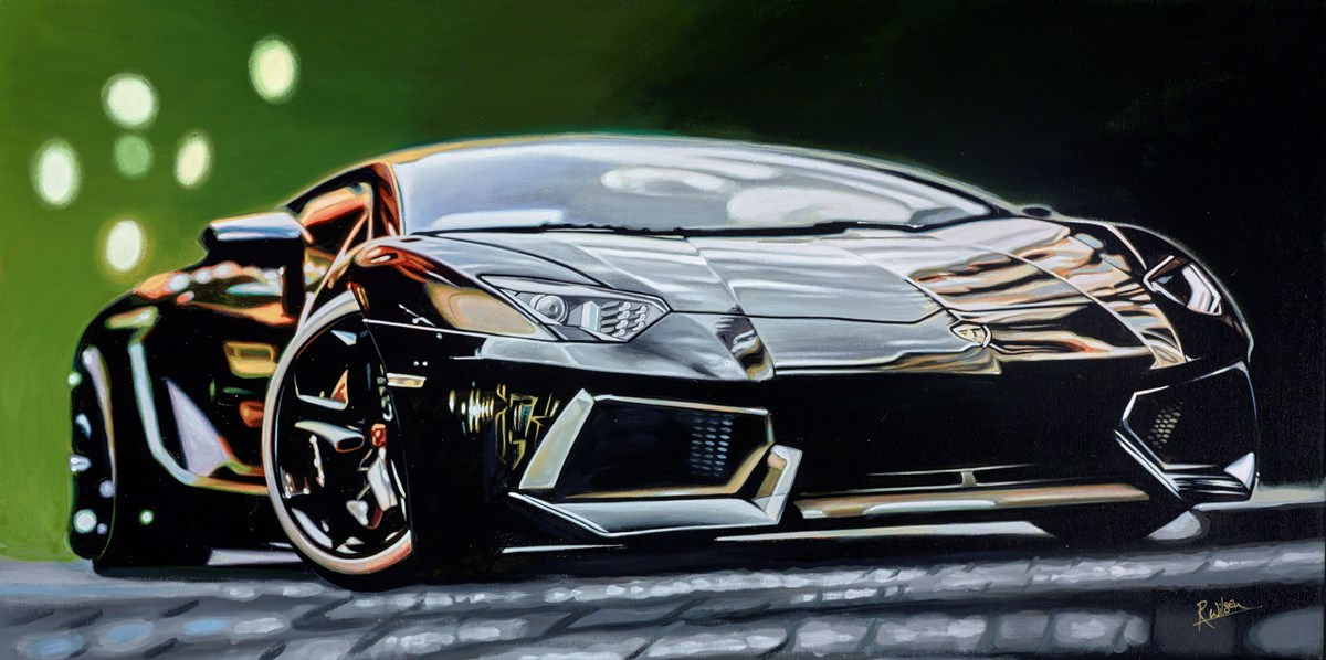 2014 Lamborghini Aventador by roz wilson -  sized 40x20 inches. Available from Whitewall Galleries